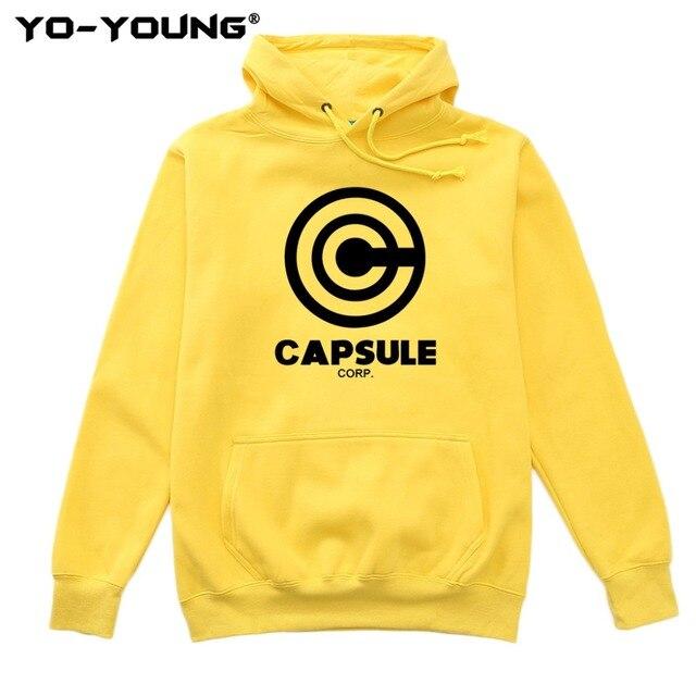 Yo Young Women Hoodies Sweatshirts Anime Dragon Balls Unisex Casual Capsule Corporation Print Streetwear Fleece Inside Quality