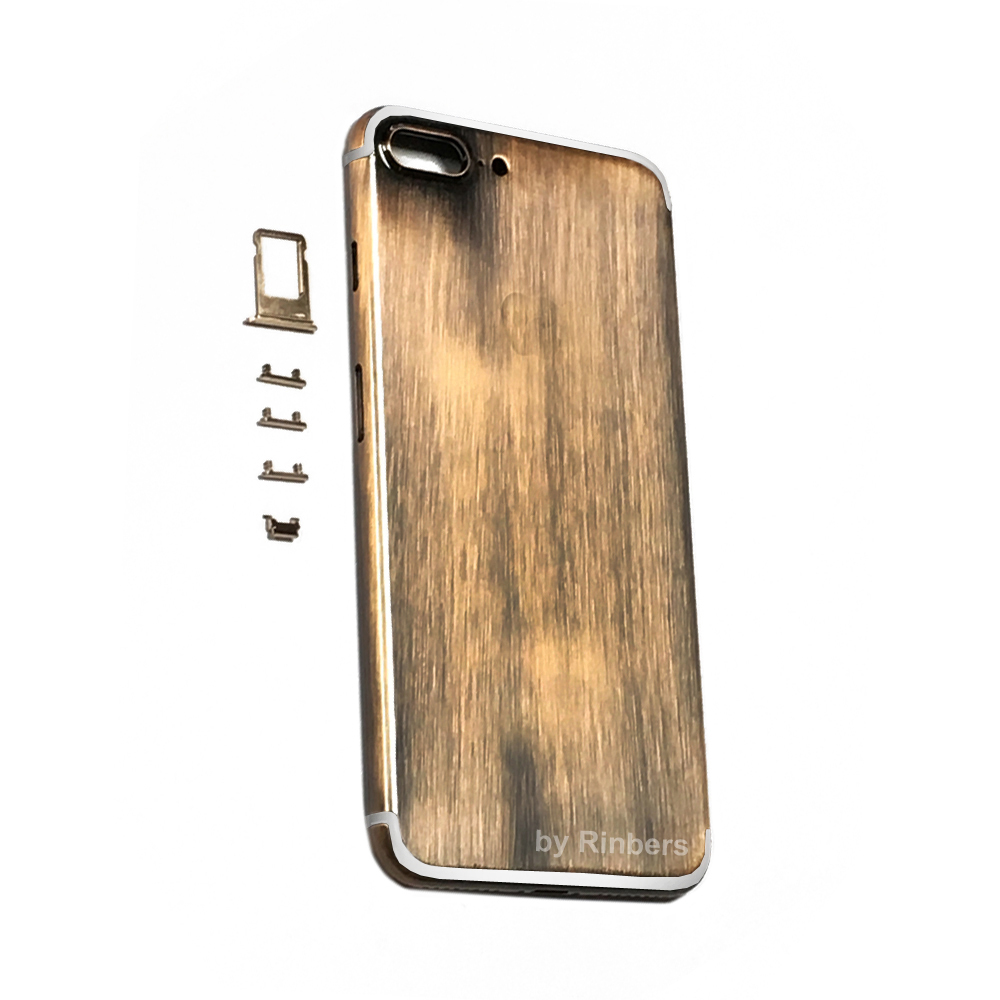 New Arrival for font b iPhone b font 7 Plus 5 5 Chrome Bronze Metal Back