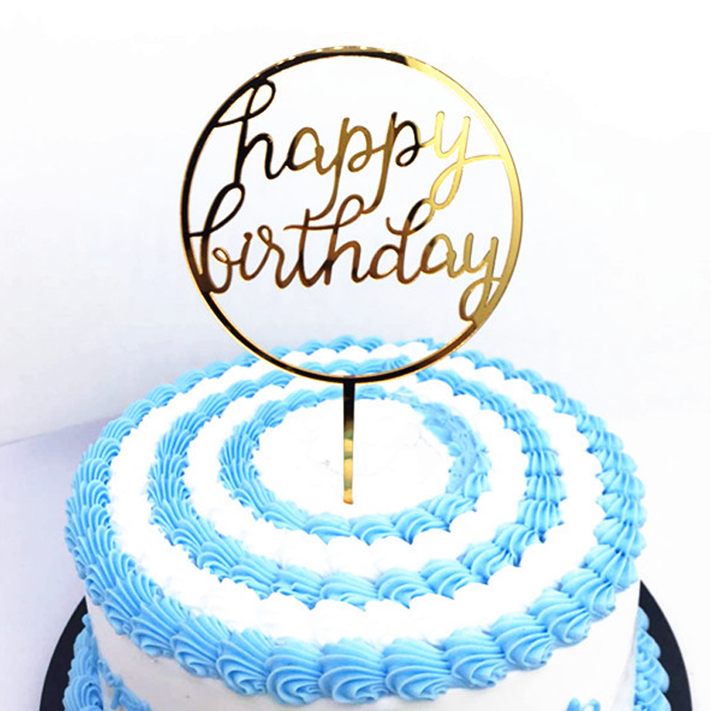 Buy Plastic Happy Birthday Cake Topper And Get Free Shipping On