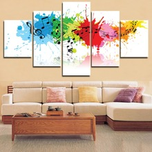 5 Pieces HD Printing  Music The Window to the Soul Type Poster Modular Modern Home Decorative For Framework Living Room