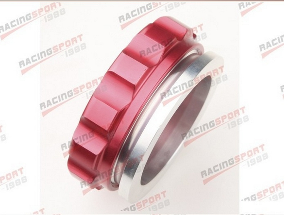 2 50.8mm Aluminium Alloy Weld On Filler Neck And Cap Oil, Fuel, Water Tank Red