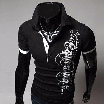 Été 2018 hommes marques de mode nouveau Polo à manches courtes, décontracté respirant couleur unie Polos Hombre Camisa M ~ XXXL