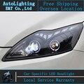 Стайлинга автомобилей LED Головная Лампа для Форд Focus2 фары 2009-2012 Фокус светодиодные фары сигнала поворота drl H7 hid Би-Ксеноновые Линзы ближнего света