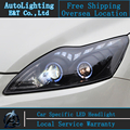 Car Styling LED Cabeza De La Lámpara para Ford Focus2 faros 2009-2012 Enfoque faros led drl señal de vuelta H7 hid Bi-xenon Lente luz de cruce