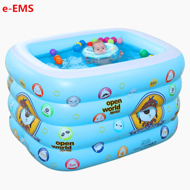 US $112.99 30% OFF|Four ring Rectangle Baby Inflatable Sinbo Dog Swimming  Pool Thicken Sea Ball Pool Swimming Bucket Paddling Pools G2025-in ...