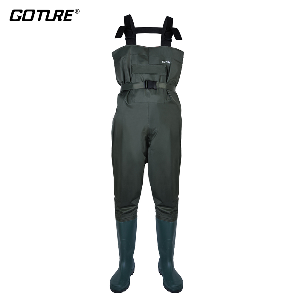 Goture Fly Fishing Wader Boots Size 46 Waterproof Breathable Foot Chest Waders For Hunting,Fishing