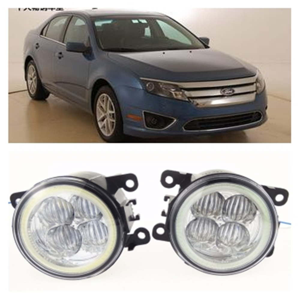 For FORD Fusion  2009-2012 10W high brightness LED Angel eyes fog lights Car styling fog lamps for lexus rx gyl1 ggl15 agl10 450h awd 350 awd 2008 2013 car styling led fog lights high brightness fog lamps 1set