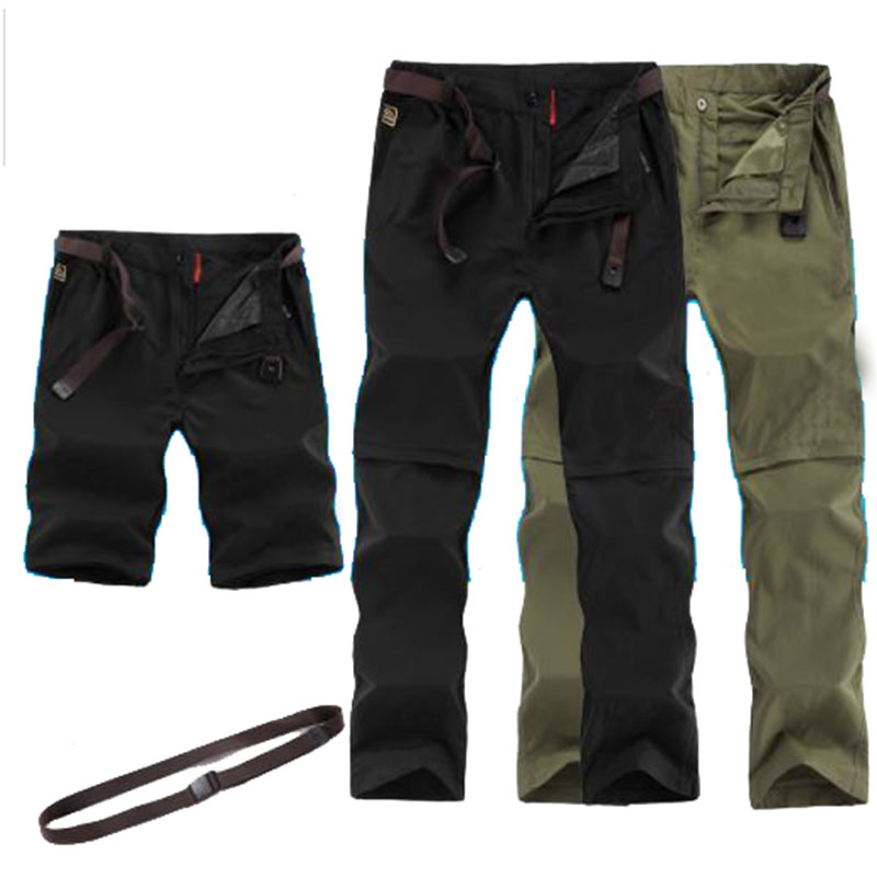 <font><b>6XL</b></font> Removable <font><b>Men's</b></font> Summer Quick Dry Hiking Pants Outdoor Elastic Camping Hiking Trekking Fishing Climbing Breathable Trousers image