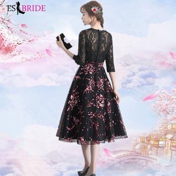Black Vestidos De Fiesta De Noche Casual Pink Appliques Evening Dress Elegant Robe De Soiree Evening Dresses Evening Gown ES2000 4