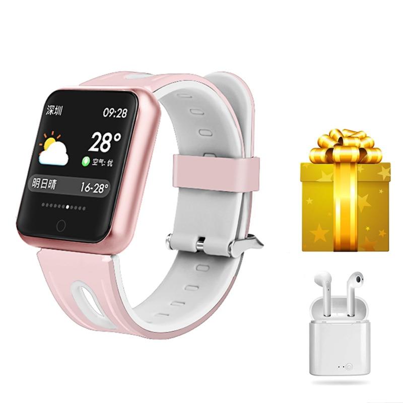 Smart bracelet female smart sports wristbands men smart watch blood pressure ip68 watch VS IWO5 P70 for apple watch+earphone-in Smart Wristbands from Consumer Electronics    1