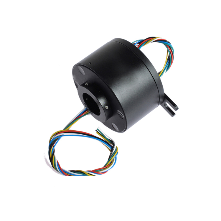 Hollow Slip Ring Out Dia.119mm Large Slip Ring 6 Channels 12 Channels 10A High Rotation Accuracy Slip Ring with 50mm Dia. Hole