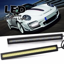 CARLITS New design Waterproof Car High Power Aluminum LED Daytime Running Lights with Lens DC 12V Super bright DRL Fog Lamps tonewan waterproof car high power aluminum led daytime running lights with lens dc12v xenon white