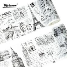 Creative Sketch Retro European Memory Japanese Masking Washi Tape Decorative Adhesive Tape Diy Scrapbooking School Office Supply