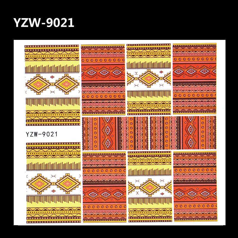 Traste WUF 1 Folha 2019 Novo Padrão Russa Verificado Designs Completa Wraps Nail Art Decalques Transferência de Água de Impressão do Selo Adesivo