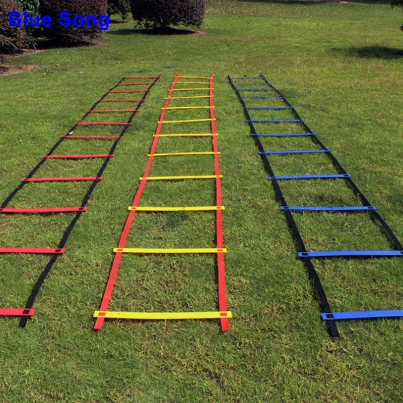Brand Firm Will Not Break 10 Crossbar Width 20.5inch(52cm) Length 5M Soccer Agility Ladder For Soccer Speed Training Equipment