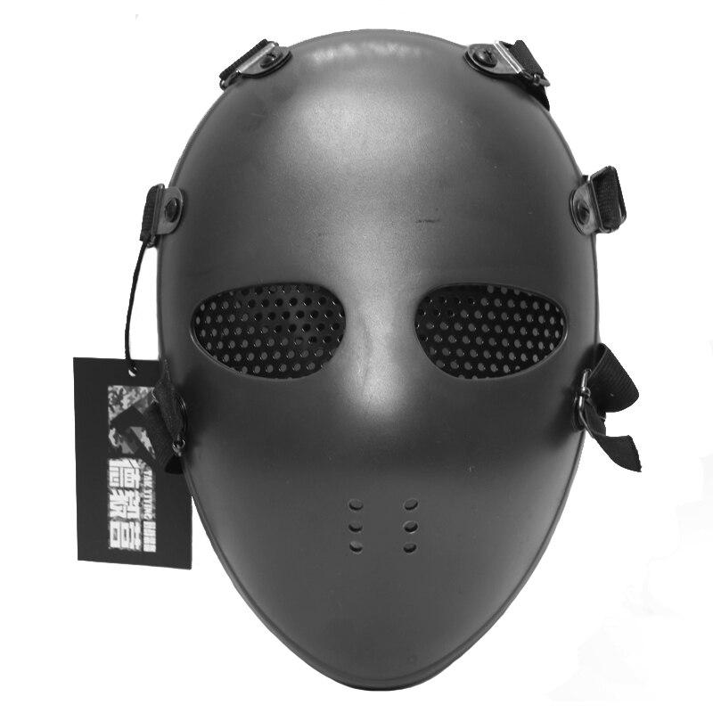 TAK YIYING 1Pc Airsoft Paintball BB Gun Full Face Protect Mask Black