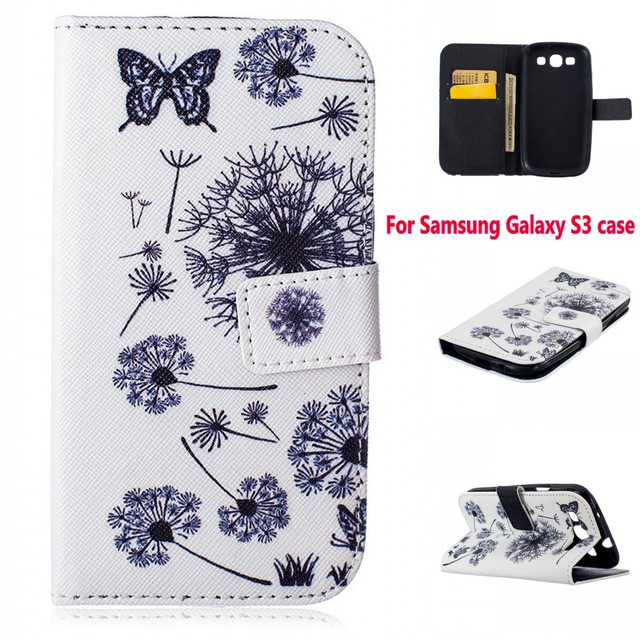 Fashion pu Leather wallet Phone Cases flip Stand Style Cover Case For Samsung GALAXY S3 NEO Duos GT-i9300 Cover