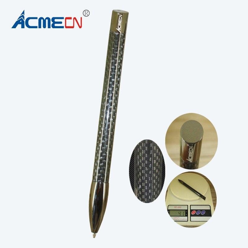 ACMECN Newest High-tech Original Design Ballpoint Pen Office Business 41g Heavy Carbon Fiber Pen Slant Shaped Unisex Ball Pen
