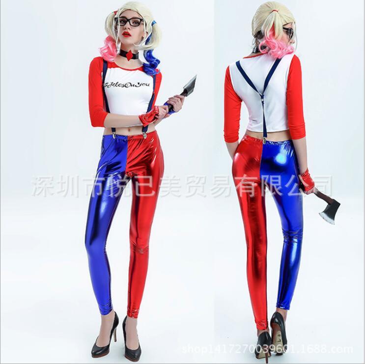 New Batman Suicide Squad Harley Quinn Cosplay Costumes Woman Coats Femme Jacket Chamarras De Batman Para Mujer
