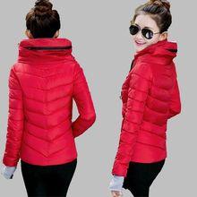 Winter Jacket Women 2016 Fashion Short Gloves Cotton-padded Thicken Jacket Parka Wadded Jacket Outerwear Winter Coat Women G1842