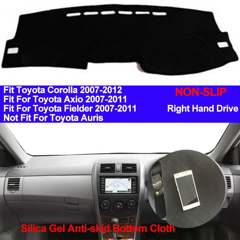 TAIJS Car Dashboard Cover Silicone Non Slip For Toyota Corolla Axio Fielder 2007 2008 2009 2010