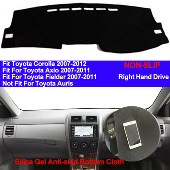 TAIJS Xe Bảng Điều Khiển Bìa Silicone Chống Trượt Đối Với Toyota Corolla Axio Fielder 2007 2008 2009 2010 2011 Dash Mat chống uv Thảm