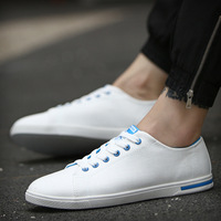 Wholesale 2017 Best New British Style Charm White Low Style Casual Shoes Men Flats Shoes Canvas
