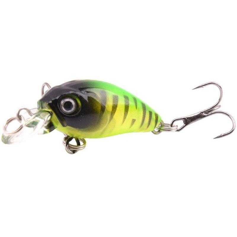 1PCS Mini Crank  Fishing Lures 4g/5cm Hard Bait Classic Wobblers Crankbaits Treble Hooks Fishing Tackle 9 Colors