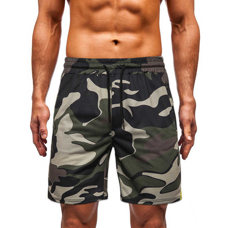 Summer Male Camouflage Shorts Cotton Blend Trousers Men Beachwear Loose Sport Beach Shorts Sweatpants Casual Print Shorts