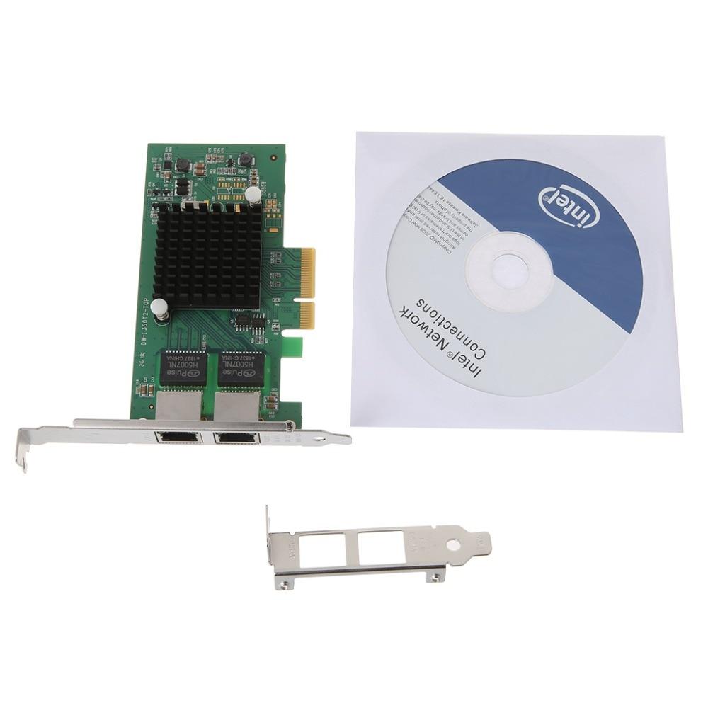I350-T2-QY Intel PCI-E 4X serveur double Port RJ45 Gigabit Ethernet LAN Intel i350AM2 1G carte réseau