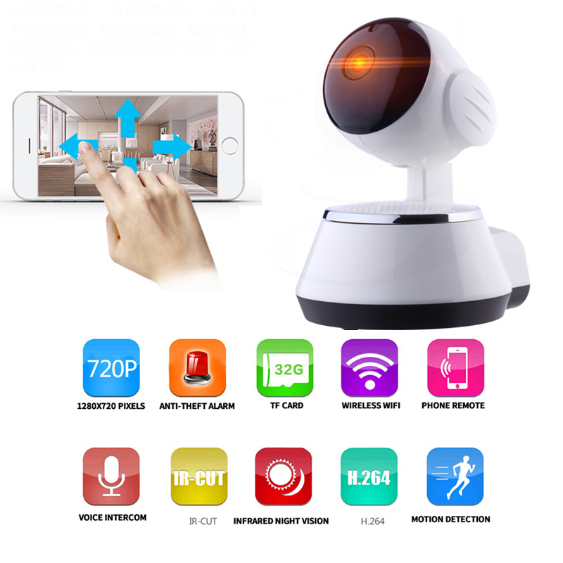 720P HD IP Security Camera IR-CUT Ipcam Home Security Dome Camera Wifi Surveillance Video P2P Motion Sensor Camera ip CCTV