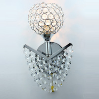 Modern Crystal curtain Corridor Wall Lights Bedroom Wall Lamp Bedsides wall lights Mirror Front Wall Sconce with switch