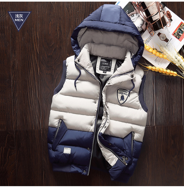 New Arrival Mens Womens Hooded Vest Cotton Down Jacket Fasion Waistcoat For Man Vests M-4XL