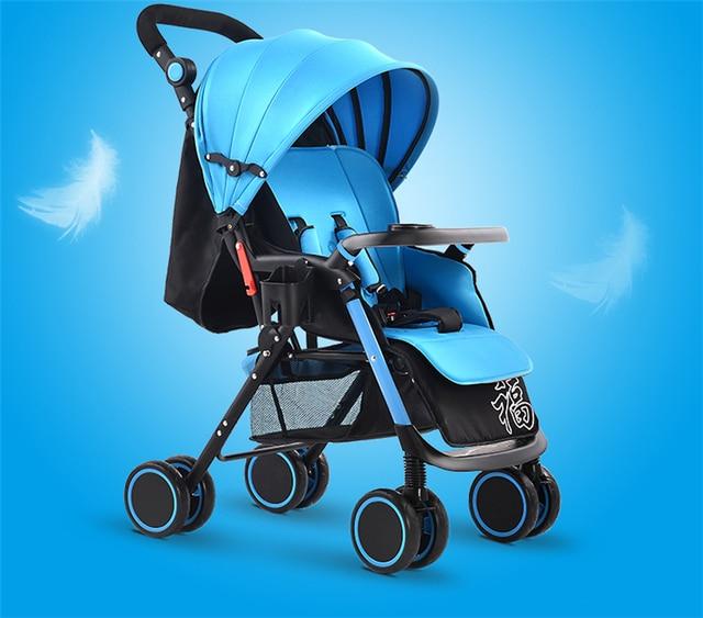 Portable Baby Stroller Kinderwagen Pram Children Pushchair Baby Car Colour Red Blue Pink Brown Purple Green Flag
