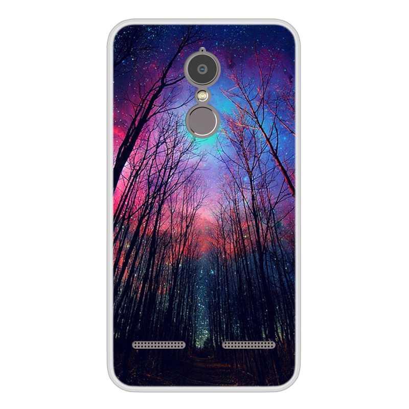 Cassa del telefono Per Lenovo K6 Power Molle Del Silicone di TPU Caso Freddo Del Modello Verniciato Per Lenovo K33A42
