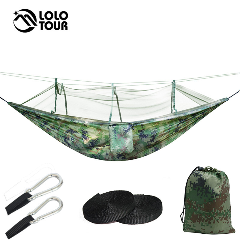 Outdoor Survival Army Netted Hammock Hanging 1-2 Person Secure Hamak For Sleeping Jungle Swing Hamac 270*130cm jungle gym детский игровой комплекс jungle gym fort swing module xtra