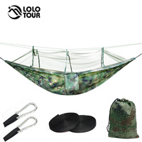 Outdoor Survival Army Netted Hammock Hanging 1 2 Person Secure Hamak For Sleeping Jungle Swing Hamac