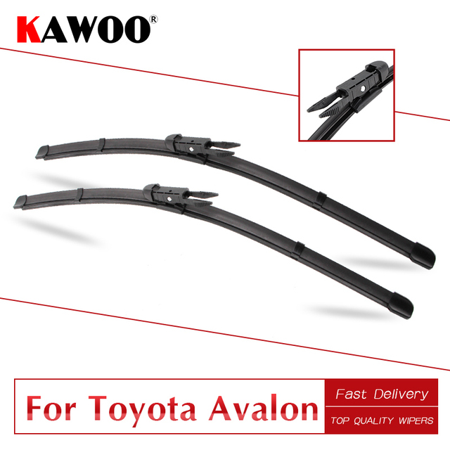 Kawoo For Toyota Avalon Car Natural Rubber Windshield Wipers Blades Fit U Hook Arm Pinch Tab Model Year From 2000 To 2018