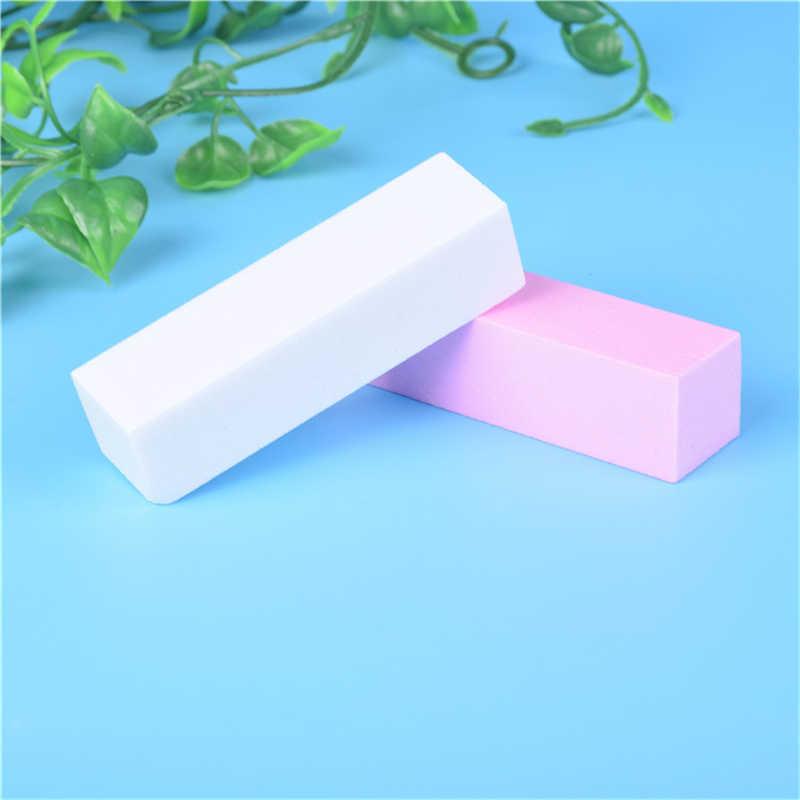 1 piezas. Lima pulidora de uñas de forma rosa para Gel UV lima de uñas blanca bloque de amortiguación esmalte manicura pedicura lijadora de uñas arte herramienta