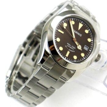 40mm Parnis coffee Dial Super Luminous Date Sapphire Glass Luxury Brand Miyota Automatic Movement men's Watch