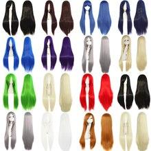 MapofBeauty, длинный парик для косплея, Синтетические прямые волосы, 17 видов цветов, оранжевый, черный, красный, золотой, жаростойкий, холлоуин, костюм, шиньон