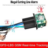 Relay GPS Tracker Car GPS Locator Cut Off Fuel GSM GPS Car Tracker Google Maps Realtime Track Shock Alarm Free APP