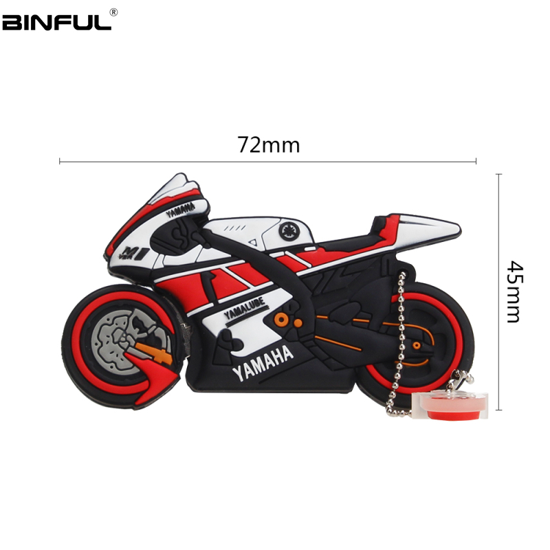 Image 3 - Motobike Pen Drive 128gb 64gb Usb Flash Drive 32gb 16gb 8gb 4gb Memory Stick Cartoon Autobike Usb 2.0 Pendrive Best Gift U Disk-in USB Flash Drives from Computer & Office
