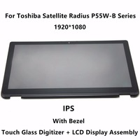15 6 Laptop LCD Display Touch Screen Assembly Frame LP156WF5 SP A2 For Toshiba Satellite P55W