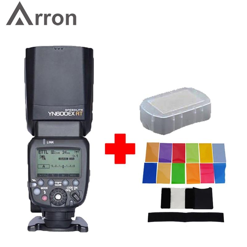 Flash Yongnuo YN600EX RT YN600EX RT Wireless Flash Speedlite Radio TTL HSS 1/8000 For Canon Camera + 12 pcs color cards