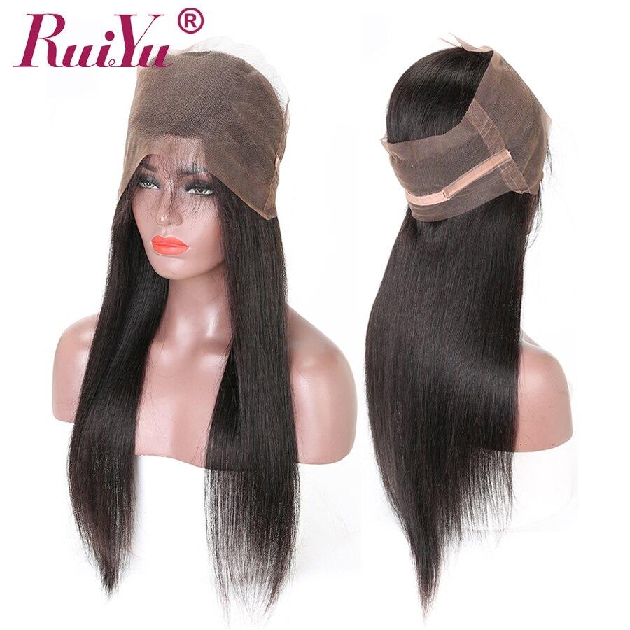 RUIYU Hair Peruvian Straight Hair 360 Lace Frontal Closure With Baby Hair 100 Human Hair Closure
