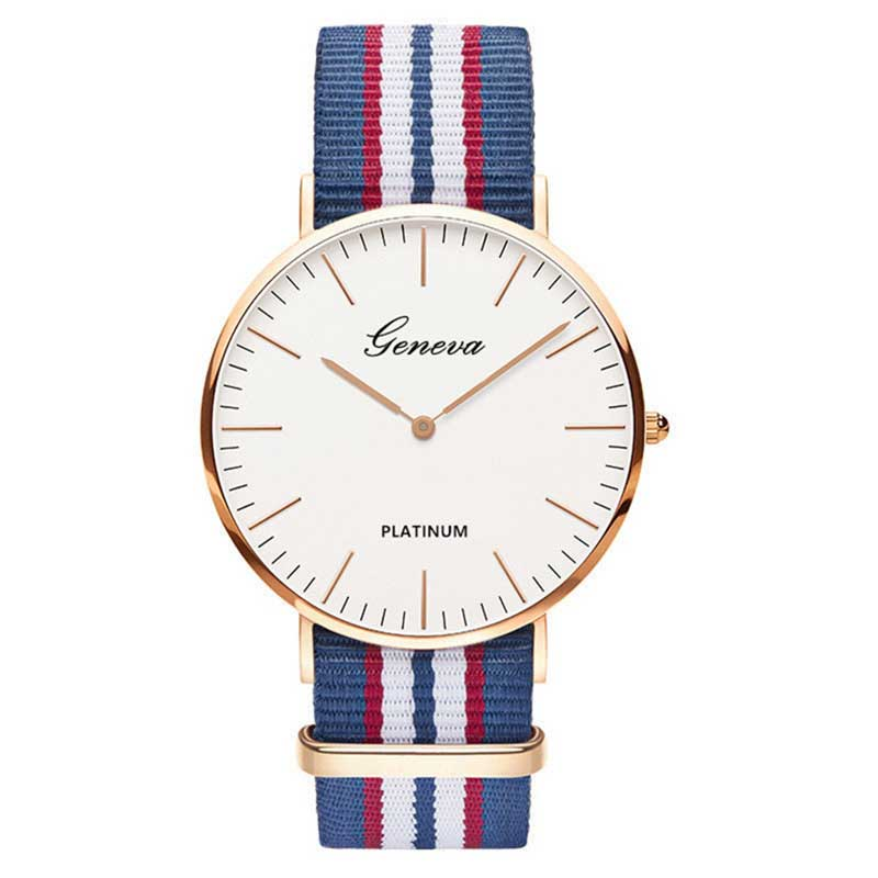Hot Sale Nylon Strap Style Quartz Women Watch Men Watches Fashion Casual Fashion Unisex Watches Lovers Wrist Watch Military Saat