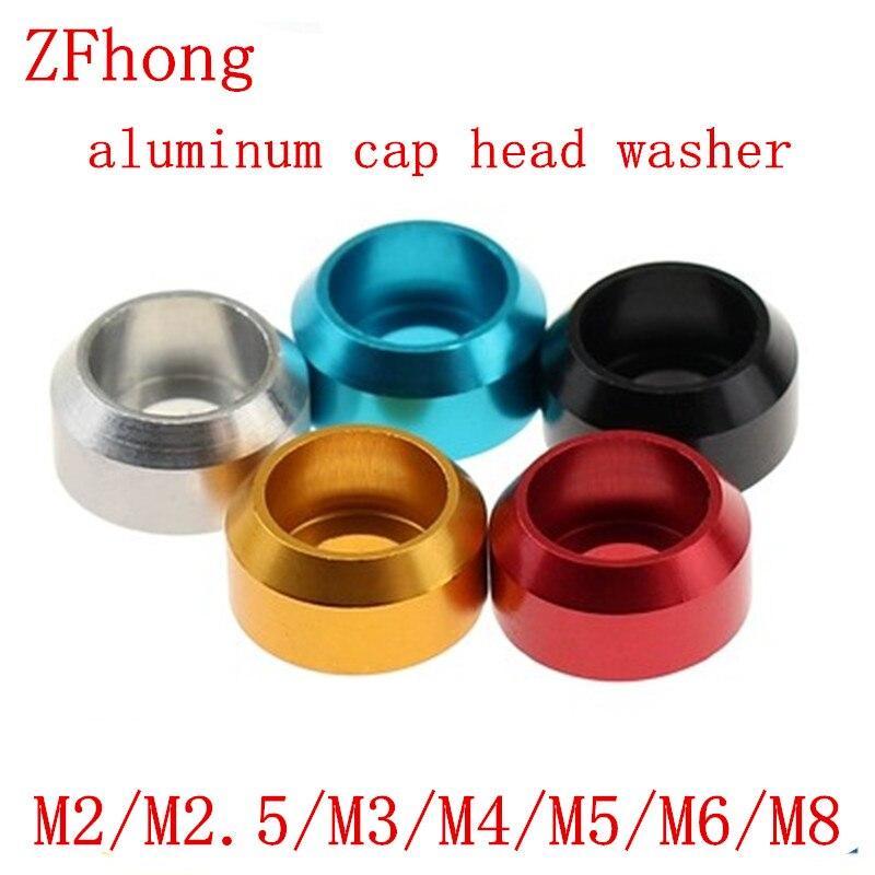 Alloy Aluminium Nylon  Countersunk Washer M2 M2.5 M3 M4 M5 Multicolor