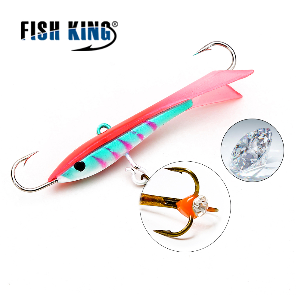 FISH KING 1PC 12G/6.5CM Ice Fishing Lures Winter Bait Hard Lure Balancer for Fishing Baits Lead Jigging 1 pack clean dry maggots for fishing high protein nutritious fish bait food winter carp fishing baits