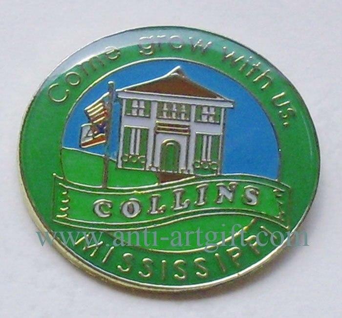 Пользовательская эмблема многократного дизайна колледжа со склада США эмблема, значок для хранения, с отворотом круглой формы 28,6 мм